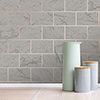Fine Decor Metro Brick Marble Charcoal Wallpaper - M1511 profile small image view 1