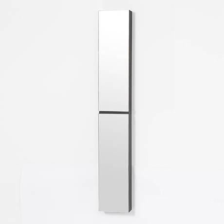 1622mm Slimline Tall Mirror Cabinet Dark Oak