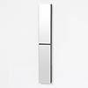 1622mm Slimline Tall Mirror Cabinet Dark Oak profile small image view 1
