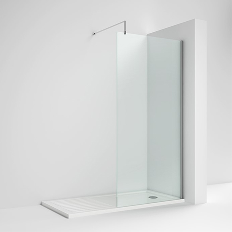 Milton 1700 x 800 Wet Room (1100mm Screen, Support Bar + Tray)