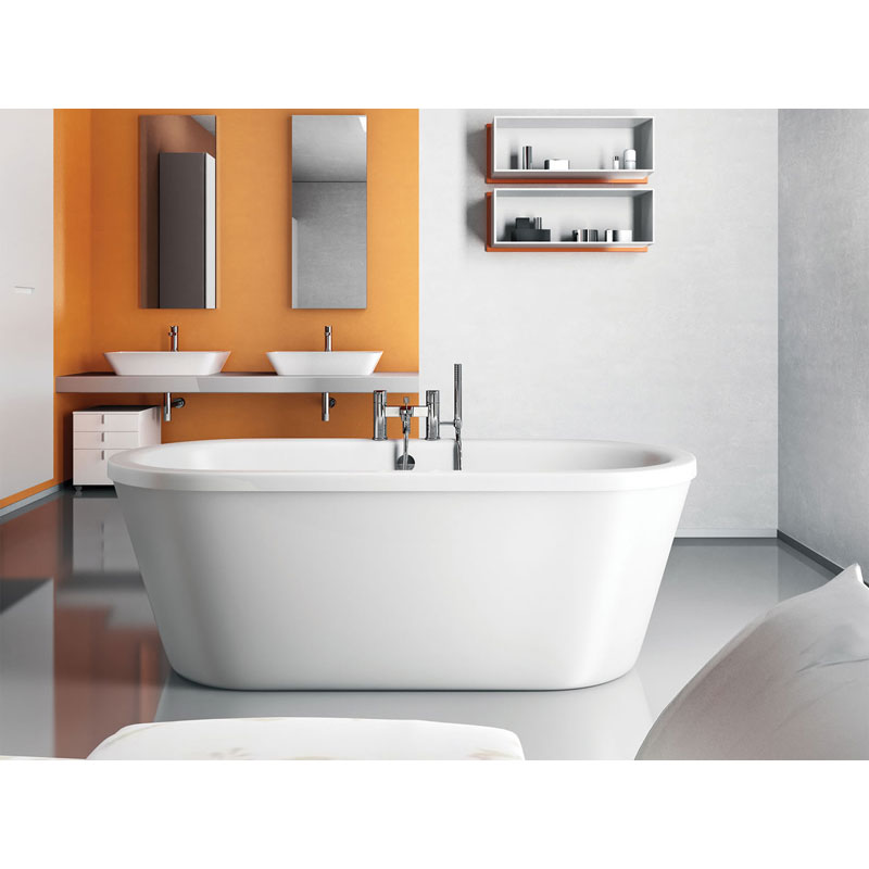 Clearwater - Nouveau 1780 x 810 Modern Freestanding Bath - M1A profile large image view 3