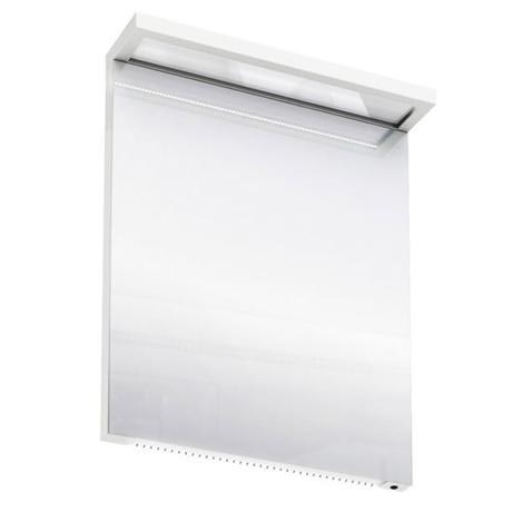 Aqua Cabinets - 600mm Wide Illuminated LED Mirror - White - M20W