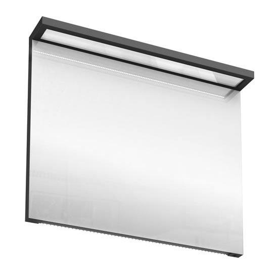 Aqua Cabinets - 900mm Wide Illuminated LED Mirror - Anthracite Grey - M30G Large Image