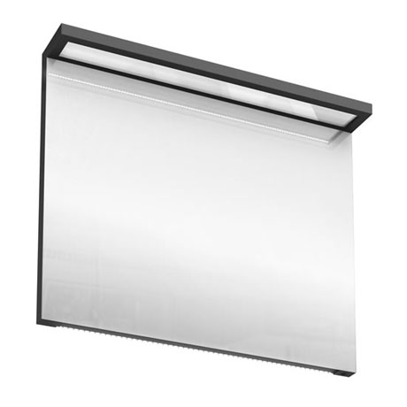 Aqua Cabinets - 900mm Wide Illuminated LED Mirror - Anthracite Grey - M30G