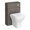 Monza Grey Avola 550mm Wide WC Unit (Depth 200mm) profile small image view 1