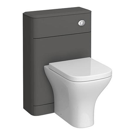 Monza Grey 550mm Wide WC Unit (Depth 200mm)