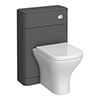 Monza Grey 550mm Wide WC Unit (Depth 200mm) profile small image view 1