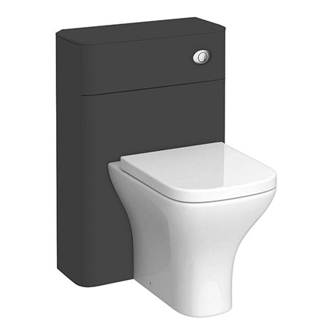 Monza Grey 550mm Wide WC Unit (Depth 200mm)