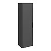 Monza Grey 350mm Wide Tall Wall Hung Unit (Depth 250mm) profile small image view 1