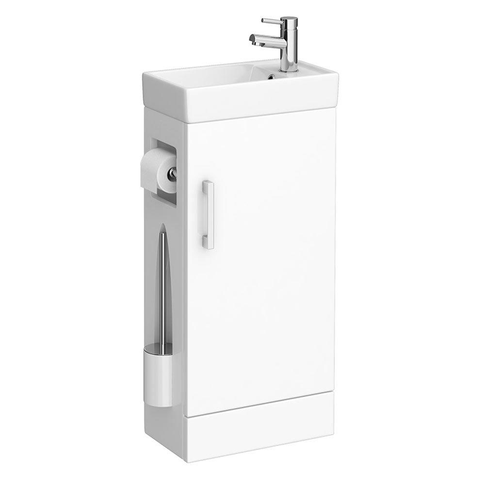 Cove Complete Bathroom Suite: Milan Compact Complete Cloakroom Unit