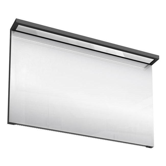 Aqua Cabinets - 1200mm Wide Illuminated LED Mirror - Anthracite Grey - M40G Large Image
