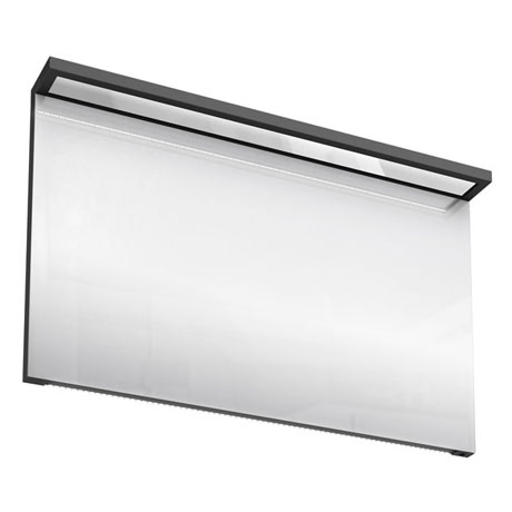 Aqua Cabinets - 1200mm Wide Illuminated LED Mirror - Anthracite Grey - M40G