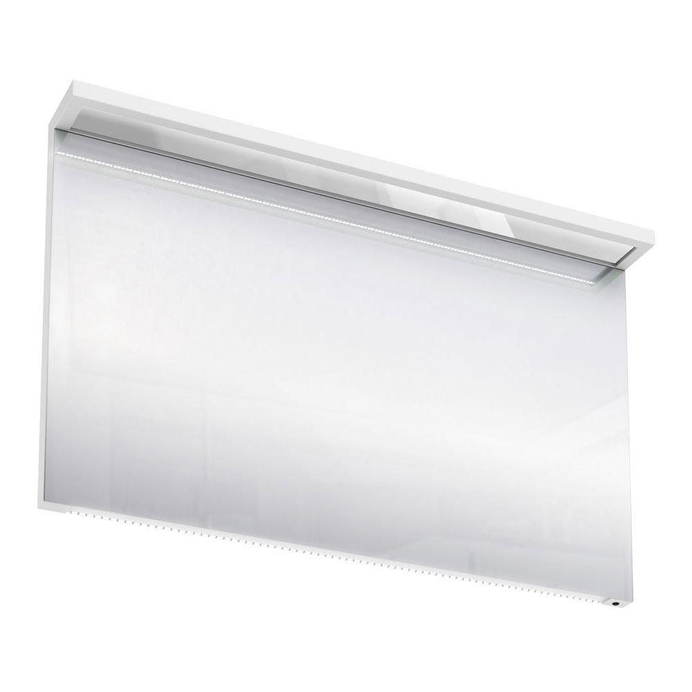 Aqua Cabinets - 1200mm Wide Illuminated LED Mirror - White - M40W Large Image
