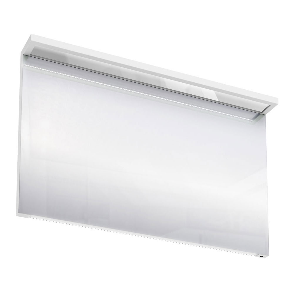 Aqua Cabinets - 1200mm Wide Illuminated LED Mirror - White - M40W profile large image view 1