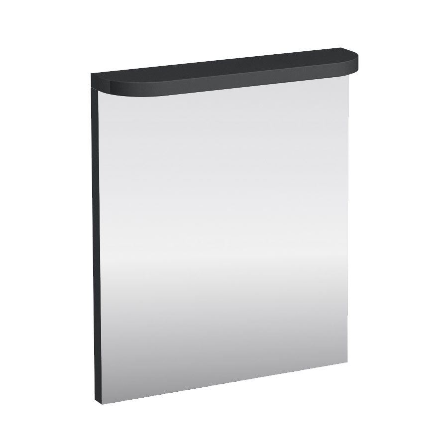 Aqua Cabinets - 600mm Wide Compact Illuminated LED Mirror - Anthracite Grey - M50G Large Image