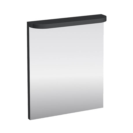 Aqua Cabinets - 600mm Wide Compact Illuminated LED Mirror - Anthracite Grey - M50G
