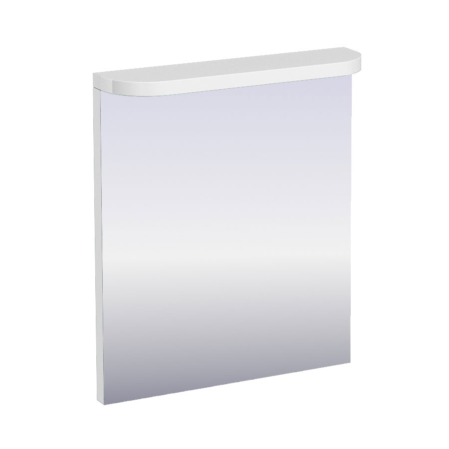 Aqua Cabinets - 600mm Wide Compact Illuminated LED Mirror - White - M50W Large Image