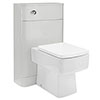 Monza Grey Mist BTW Toilet with Square Pan + Seat profile small image view 1