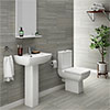 Milan 4-Piece Modern Bathroom Suite profile small image view 1