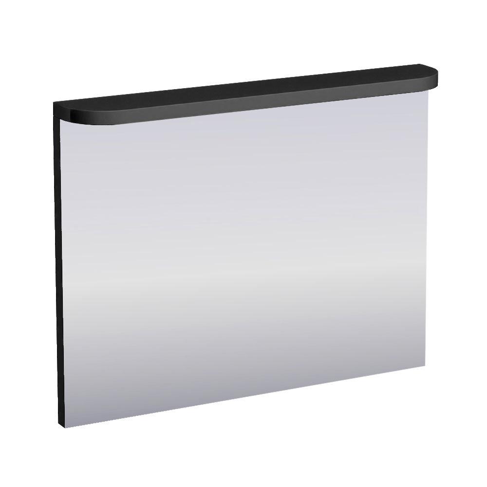 Aqua Cabinets - 900mm Wide Compact Illuminated LED Mirror - Black - M60B Large Image