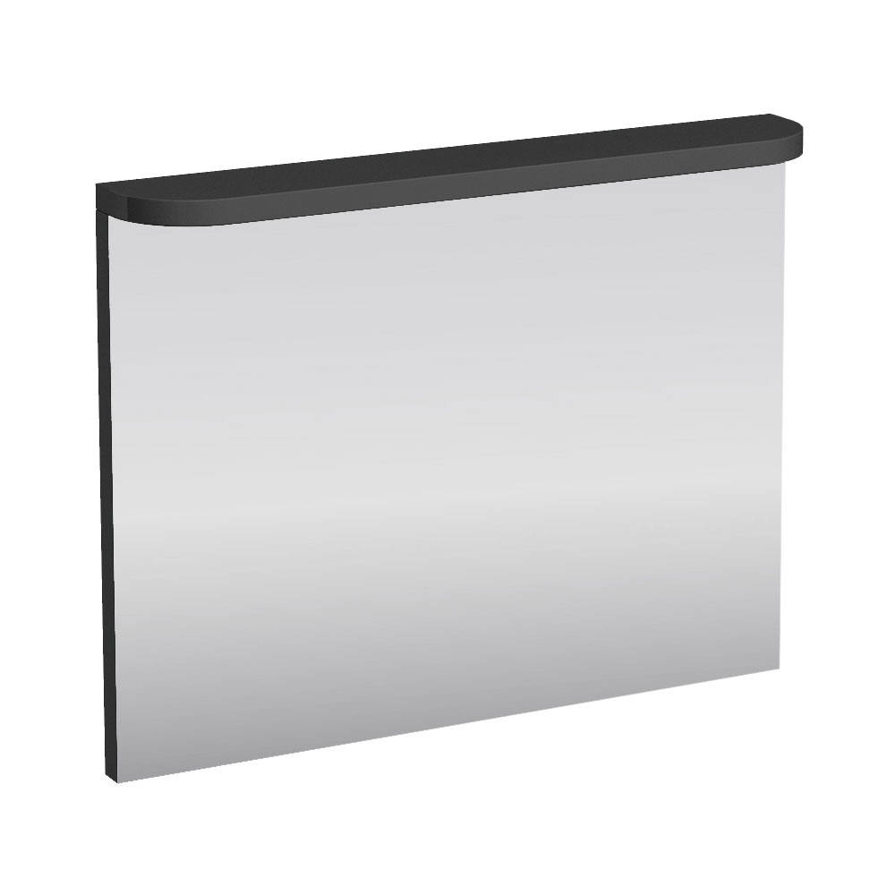 Aqua Cabinets - 900mm Wide Compact Illuminated LED Mirror - Anthracite Grey - M60G Large Image