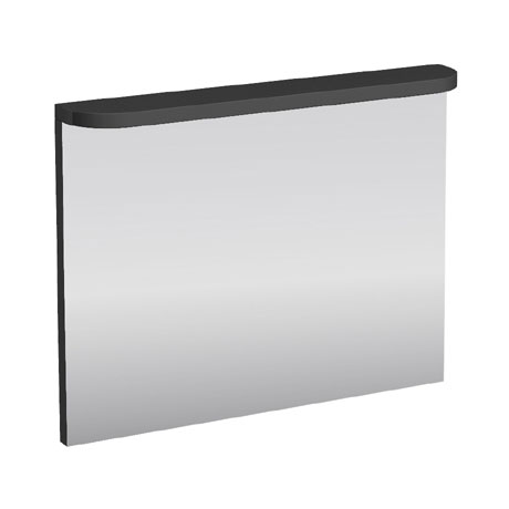 Aqua Cabinets - 900mm Wide Compact Illuminated LED Mirror - Anthracite Grey - M60G