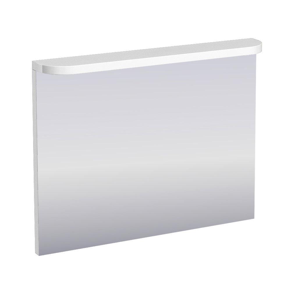 Aqua Cabinets - 900mm Wide Compact Illuminated LED Mirror - White - M60W Large Image