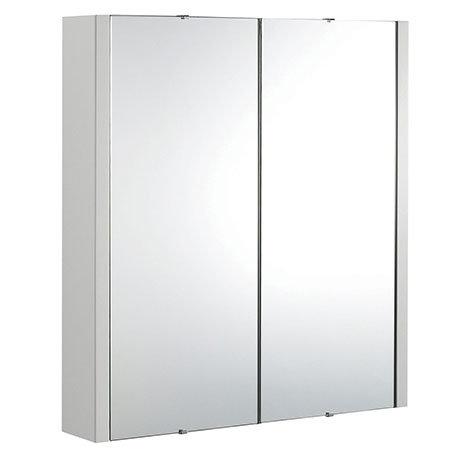 Monza 600mm Grey Mist 2 Door Mirror Cabinet