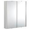 Monza 600mm Grey Mist 2 Door Mirror Cabinet profile small image view 1