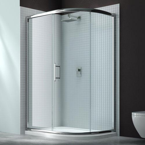 Merlyn 6 Series 1 Door Offset Quadrant Shower Enclosure - 900 x 760mm Large Image