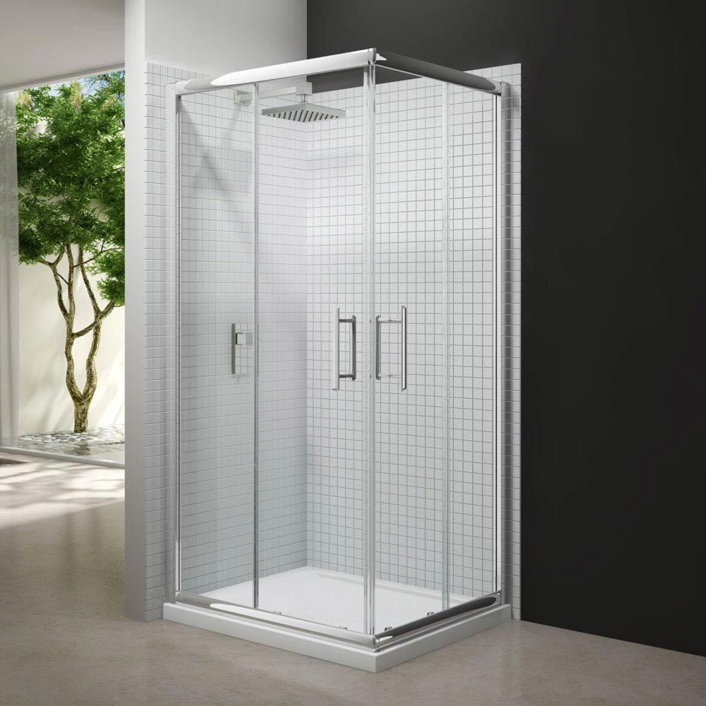 Merlyn 6 Series Corner Door Shower Enclosure profile large image view 1
