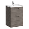 Monza Grey Avola 600mm Floor Standing Vanity Unit (Depth 450mm) profile small image view 1