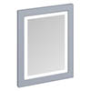 Burlington Framed 60 Mirror with LED Illumination - Classic Grey profile small image view 1