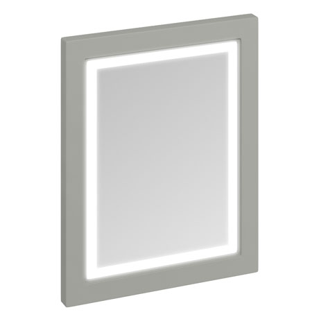 Burlington Framed 60 Mirror with LED Illumination - Dark Olive