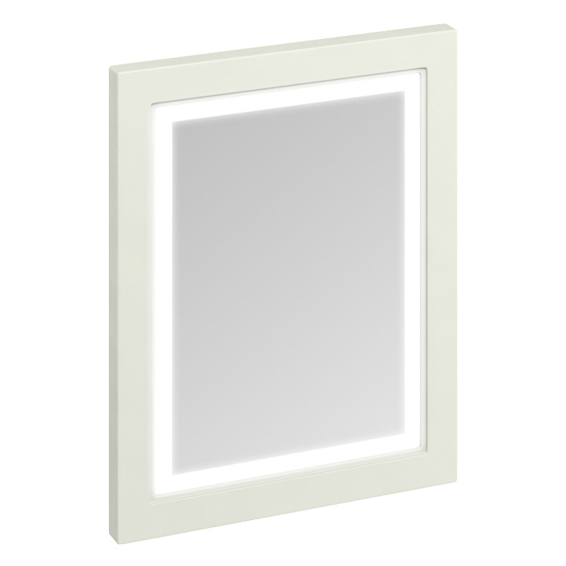 Burlington Framed 60 Mirror with LED Illumination - Sand Large Image