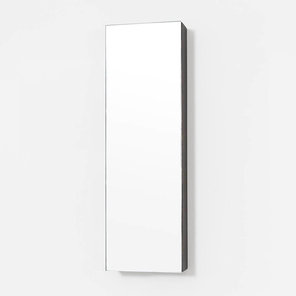 800mm Slimline Mirror Cabinet Dark Oak