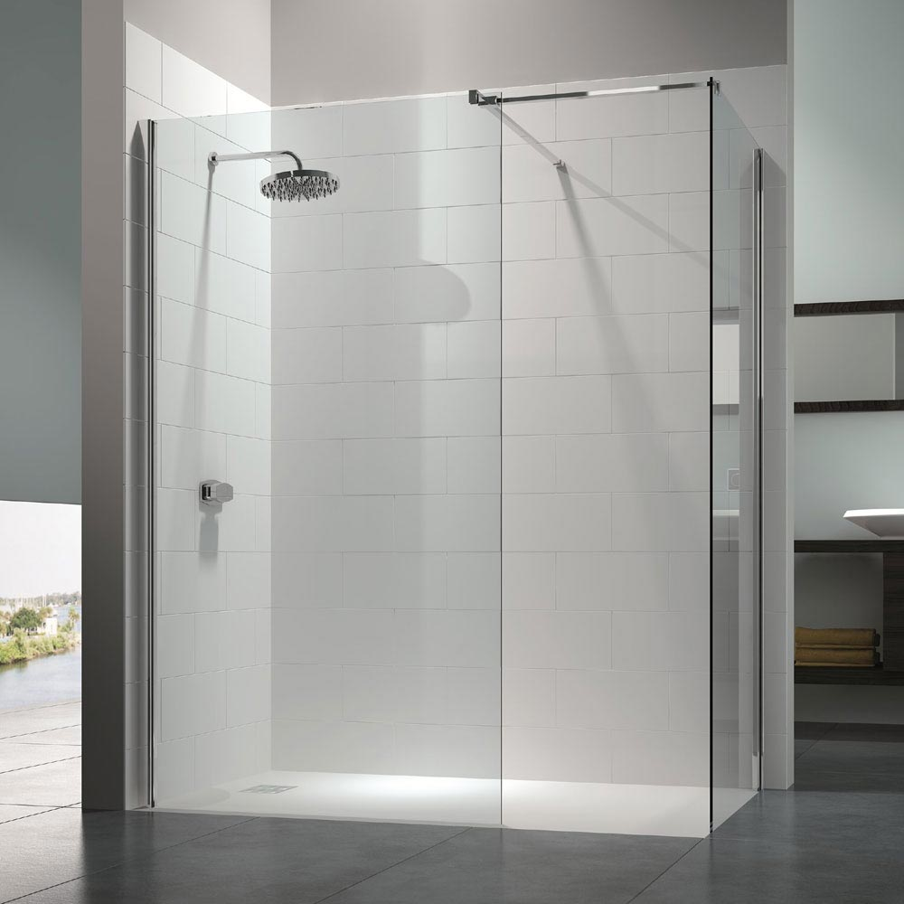 Merlyn 8 Series Walk In Enclosure with End Panel - 1400 x 900mm