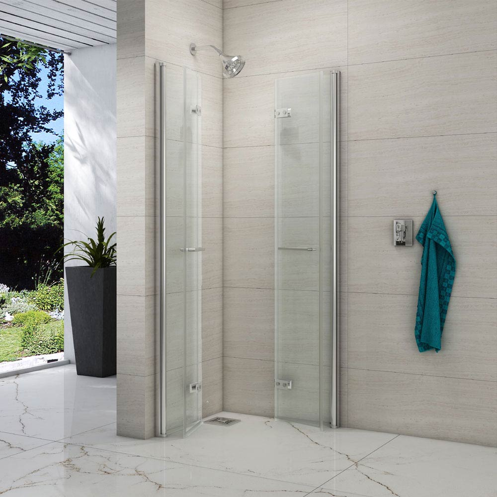 Merlyn 8 Series Double Folding Wetroom Screen Enclosure profile large image view 2