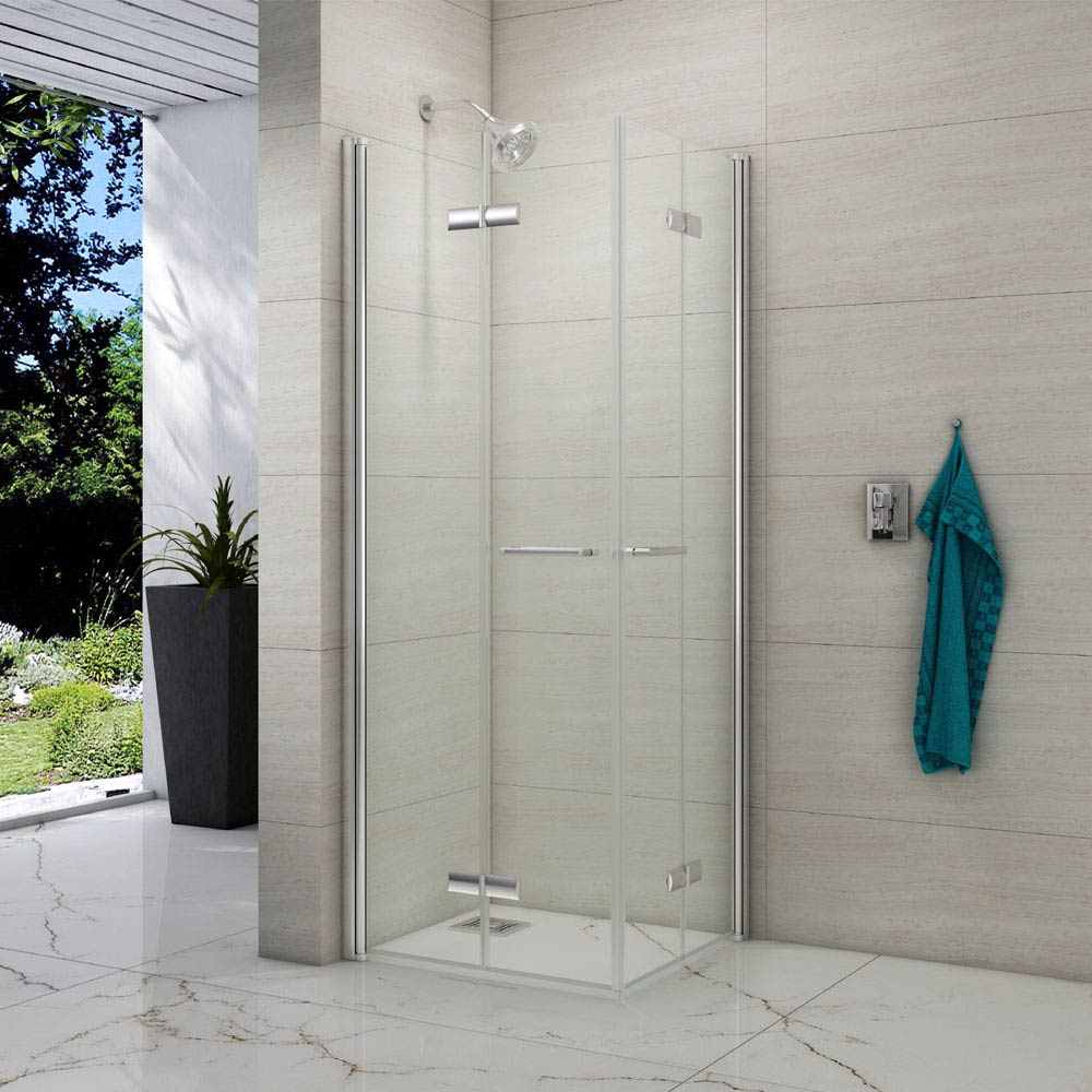 Merlyn 8 Series Double Folding Wetroom Screen Enclosure Large Image