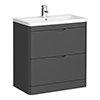 Monza Grey 800mm Floor Standing Vanity Unit (Depth 450mm) profile small image view 1
