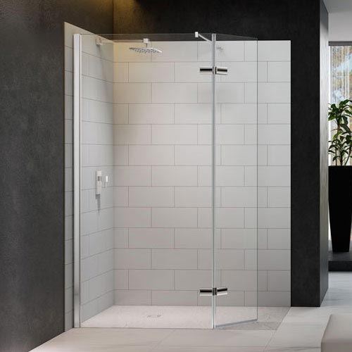 Merlyn 8 Series Wetroom Screen with Hinged Swivel Panel Large Image