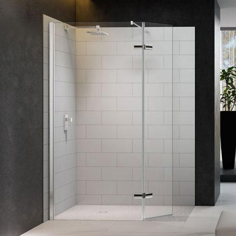Merlyn 8 Series Wetroom Screen with Hinged Swivel Panel