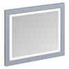 Burlington Framed 90 Mirror with LED Illumination - Classic Grey profile small image view 1