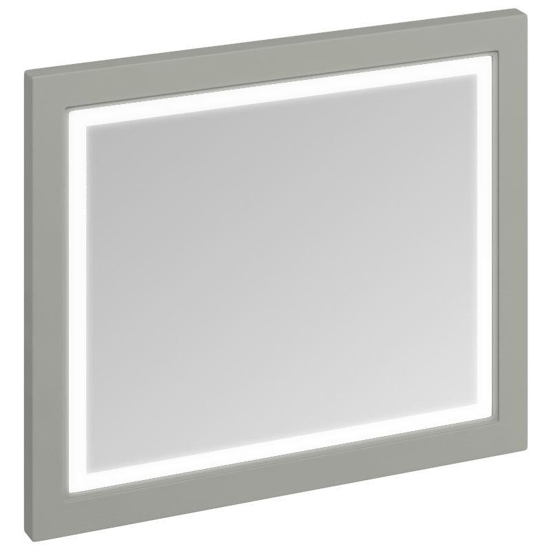 Burlington Framed 90 Mirror with LED Illumination - Dark Olive Large Image