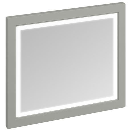 Burlington Framed 90 Mirror with LED Illumination - Dark Olive