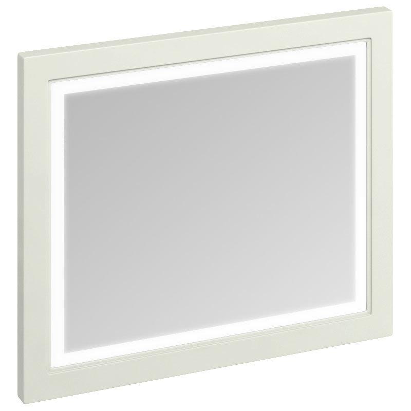 Burlington Framed 90 Mirror with LED Illumination - Sand Large Image