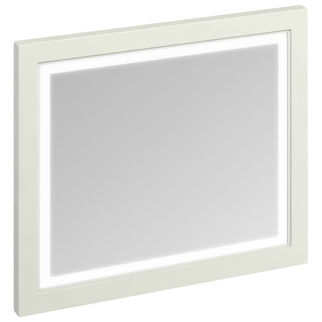Burlington Framed 90 Mirror with LED Illumination - Sand