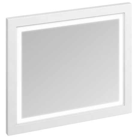 Burlington Framed 90 Mirror with LED Illumination - Matt White