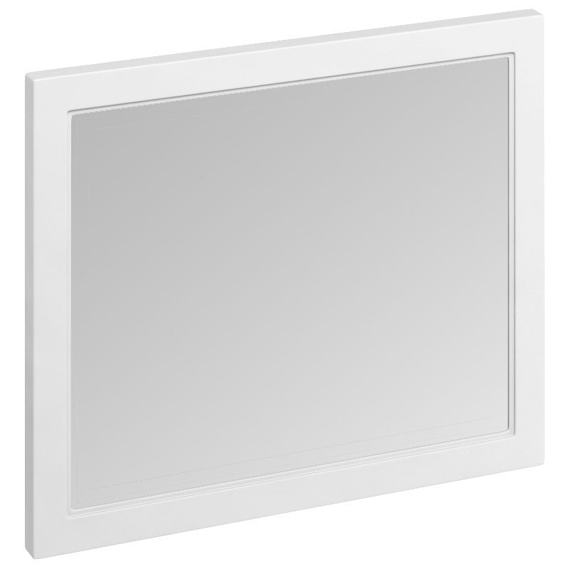 Burlington Framed 90 Mirror - Matt White Large Image