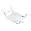 Milton Adjustable (650-800mm) Removable Bath Seat with Slats - White profile small image view 1